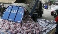 Quan chức Vũ Hán bị sa thải vì chở thịt cho dân bằng... xe rác