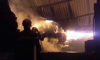 TPHCM: Trăm cảnh sát dập lửa tại công ty nhựa lúc rạng sáng