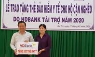 HDBank tặng 600 thẻ BHYT cho bà con Bến Tre