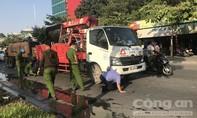 Người đàn ông bị thùng trộn bê tông cán chết ở đoạn đường đang thi công