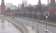 Clip thủ đô Nga 'ảm đạm' khi ca nhiễm nCoV tăng chóng mặt