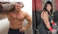 """Lực sĩ nam 100kg, vô địch sức mạnh hành tinh """"biến"""" thành phụ nữ"""