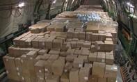 Máy bay quân sự Nga chở hàng cung ứng chống Covid-19 đến Mỹ