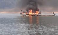 Cháy ca nô, 1 cán bộ tuần tra bảo vệ rừng tử vong