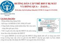 Người mất, hỏng thẻ BHYT sẽ được làm lại qua Zalo như thế nào?