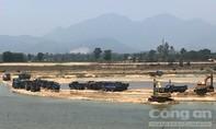 Mỏ cát trên sông Trà Khúc bị đóng cửa, vẫn khai thác trái phép