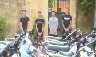 Nhóm nghiện ngập trộm được gần 70 xe máy trong nửa năm