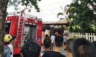 Hàng chục cán bộ chiến sĩ khống chế đám cháy ngoi nhà có tang