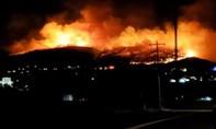 Clip đốt pháo hoa gây cháy 80 hecta rừng