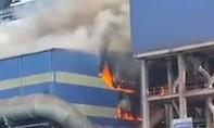 Cháy ở khu liên hợp sản xuất gang thép Hòa Phát Dung Quất