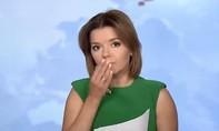 Clip nữ MC bị rơi răng khi đang dẫn chương trình truyền hình trực tiếp