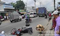 Xe container cán tử vong người đi xe máy trên quốc lộ 50