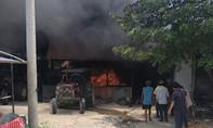 Cháy vựa mủ cao su, thiệt hại lớn về tài sản