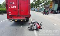 Xe máy lấn làn tông đuôi xe tải, một người tử vong