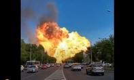 Clip nổ kinh hoàng tại trạm khí gas ở Nga, ít nhất 12 người bị thương