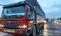 Xe tải nghi chở cát lậu, quá tải.... 57 tấn, tài xế khoá cửa bỏ đi khi thấy CSGT