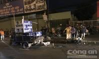 Người đàn ông đi xe máy ngã, bị xe ba gác cán tử vong ở Sài Gòn