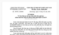 Văn bản cho học sinh ở Tiền Giang, Lâm Đồng nghỉ học hết tháng 2 là giả
