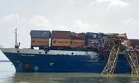 Tàu chở container va vào cầu Phước Khánh thuộc cao tốc Bến Lức - Long Thành