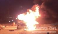 Ô tô phát hoả, hàng trăm kg bưởi bán Tết cháy rụi