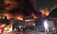 Cháy tại công ty XNK Ngũ Cốc rộng 4 hecta trong khu công nghiệp Sóng Thần