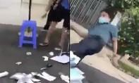 Báo cáo ban đầu vụ người đàn ông đạp đổ bàn làm việc của tổ xét nghiệm