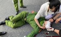 Thanh niên vi phạm lao xe vào tổ công tác khiến Đại úy Công an trọng thương