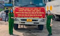 Những chuyến xe yêu thương của CSHS Công an Lâm Đồng gửi đến bà con vùng dịch