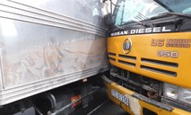 Không nhường đường, hai ô tô tải tông nhau trên QL1A