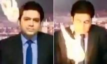 MC truyền hình trực tiếp né quả cầu lửa suýt rơi trúng người