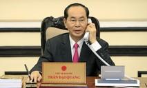 Chủ tịch nước Trần Đại Quang điện đàm với Tổng thống Hoa Kỳ Donald Trump