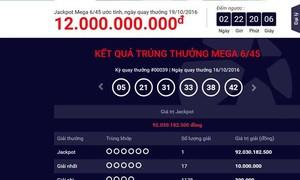 Lão nông Trà Vinh trúng số điện toán Vietlott hơn 92 tỷ đồng