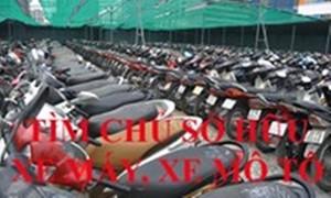 Công an Quận 6 cần tìm chủ sở hữu 12 xe máy