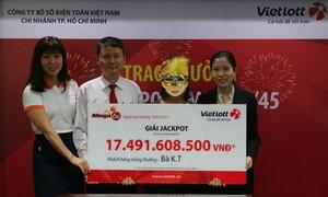Vietlott trao giải 17 tỷ cho khách hàng đến từ Tây Ninh
