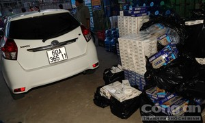 Xe ôtô 2 lần bị bắt vì chở thuốc lá lậu