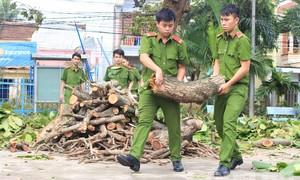 Lực lượng Công an chủ động ứng phó với bão số 14