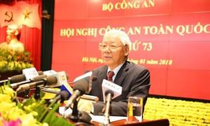 Toàn văn bài phát biểu của Tổng Bí thư Nguyễn Phú Trọng tại Hội nghị Công an toàn quốc lần thứ 73