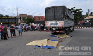 Hai mẹ con bị xe tải cán chết thảm ở vòng xoay Trung Lương