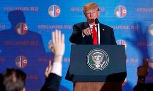 Tổng thống Trump: Tiếp tục duy trì các lệnh trừng phạt Triều Tiên