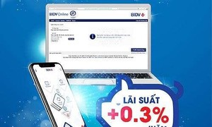 """""""Gửi thật tiện – Lãi thật cao"""" với tiền gửi online của BIDV"""