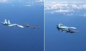 Clip Su-27 của Nga 'xua đuổi' tiêm kích F-15 cách nhau chỉ 1 m