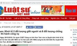 Tước giấy phép tạp chí điện tử Luật sư Việt Nam vì đưa tin sai sự thật