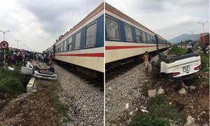 Tàu hỏa đâm lật xe 4 chỗ, nữ tài xế tử vong