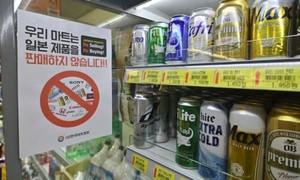 """Người Hàn """"không thèm"""" uống giọt bia nào của Nhật vì căng thẳng"""