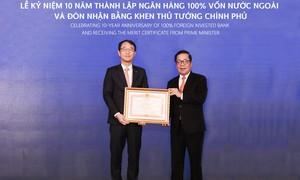 Thủ tướng Chính phủ tặng bằng khen cho ngân hàng Shinhan