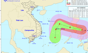 Bão Kamuri mạnh cấp 14, giật cấp 17 hôm nay vào Biển Đông