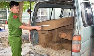 Phát hiện 2 xe ô tô quá hạn sử dụng chở lượng lớn gỗ lậu