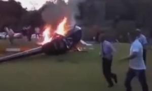 Clip trực thăng chở cô dâu rơi ngay trong đám cưới