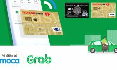 Ví điện tử Moca trên ứng dụng Grab liên kết với Techcombank