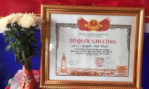 Cấp Bằng Tổ quốc ghi công cho 3 liệt sỹ hy sinh tại Đồng Tâm